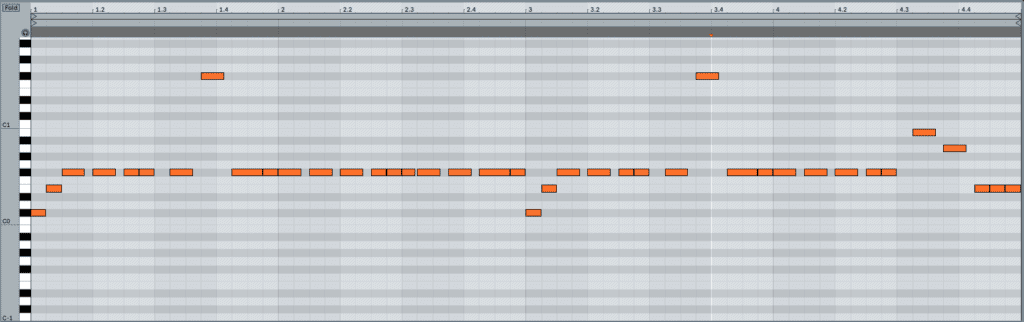 Create Movement In Your Bassline Midi With Syncopation Example 2