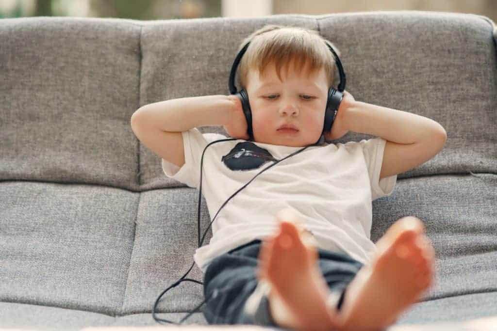 Small Kid Listening To Music