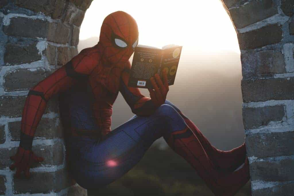Spiderman Reading Books
