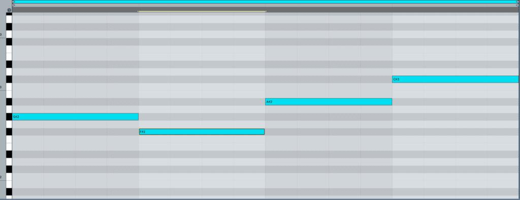 Bassline Progression